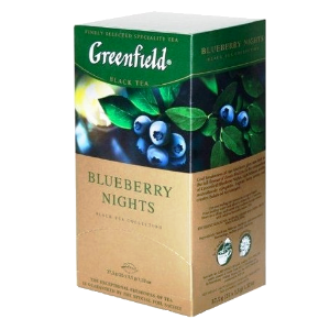 Чай Greenfield (Гринфилд) Blueberry Nights (Блюберри Найтс) 25п